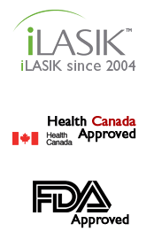 iLasik since 2014; Health Canada Approved, FDA Approved